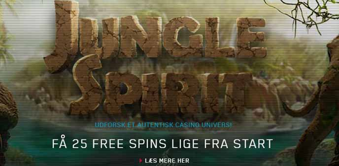 25 gratis spins til alle på Jungle Spirit