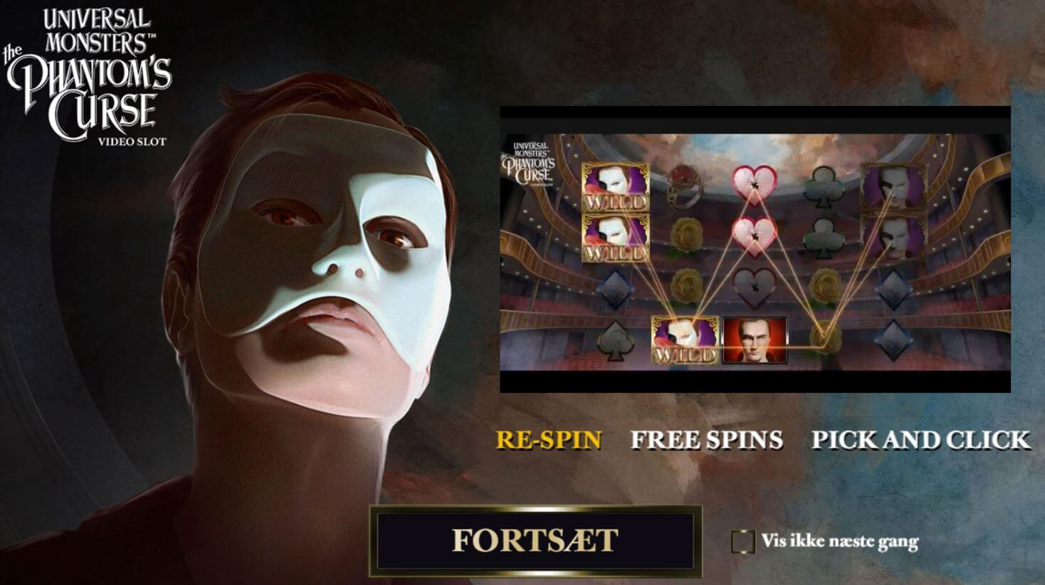 Universal Monsters: Phantom's Curse spilleautomat - free spins
