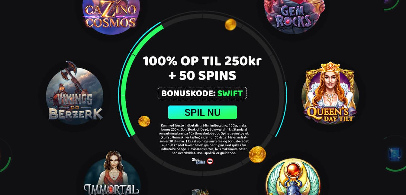 Swift Casino 50 Book of Dead spins anmeldelse