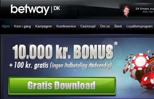 Betway med Flash og 10.000,- i bonus