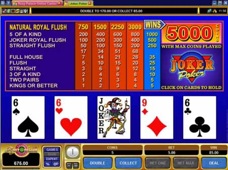 Video Poker Regler