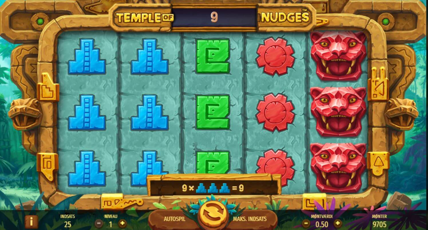 Temple of Nudges - 50 CASH Free spins