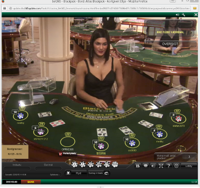 Live Blackjack casinospil på bet365